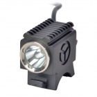 TrustFire TR-D001 LED 600lm 4-Mode White Bicycle Light - Black (2 x 18650)