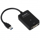 ORICO DU3D USB 3.0 to DVI External Graphics 4-DVI Computer Screen DVI Card - Black