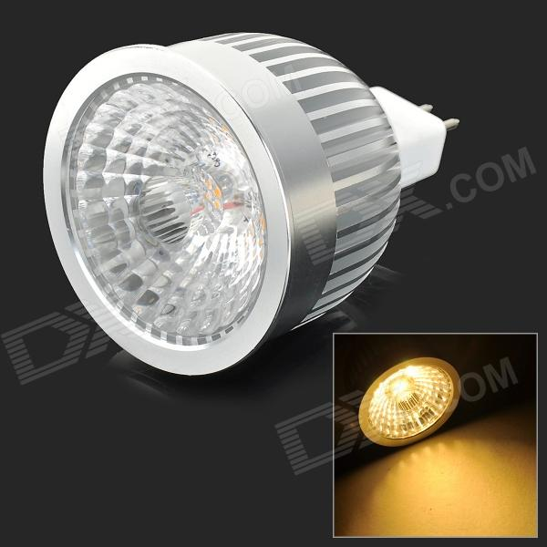 MR16 6W 500lm 4000K COB LED quente Spotlight White Light - Branco + Cinza prateado (12V)