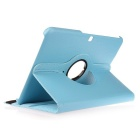 "360° Rotary Stylish PU Case w/ Stand for 10.1"" Samsung Tab - Sky Blue"