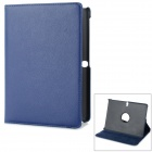 Rotary Stylish Flip Open PU Case for 10.5'' Samsung Galaxy Tab S T800 / T805 / T801 - Deep Blue