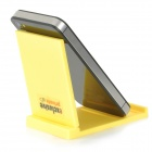 Titulaire d'ABS exclusif Privat universelle portable pliable stand pour l'iPhone + iPad - Jaune