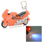 Cute Motorcycle Shaped White Light LED Keychain - Orange + Black + Multi-Colored (3 x AG10)
