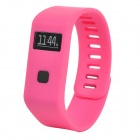 "MaiTech 10020139 Sports Running 0.6"" OLED Screen Wireless Bluetooth TPU Intelligent Wristband - Pink"