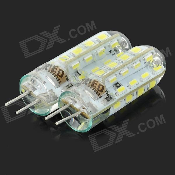 JRLED G4 3W 260lm 7500K 32-SMD 3014 LED Cool White Lamp - White + Transparent (AC 220~240V / 2 PCS)