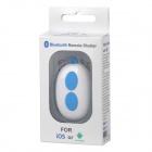 Wireless Bluetooth V3.0 Selfie Camera Remote Shutter for iOS / Android System - Blue (1 x CR2032)