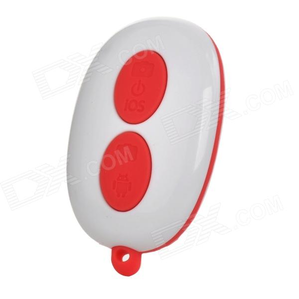 Wireless Bluetooth V3.0 Selfie Camera Remote Shutter for iOS / Android System - Red (1 x CR2032) дистанционный спуск затвора для фотокамеры oem selfie bluetooth remoto ios android