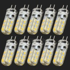 JRLED G4 1.5W 100lm 3300K 24-SMD 3014 LED Warm White Crystal Light Source - Yellow (10 PCS / DC 12V)