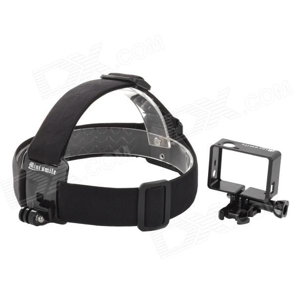 Outdoor Sports Head Fixing Band w/ Camera Frame Holder for Gopro Hero 4/ 3+ / Hero 3 - Black казан bekker вк 633