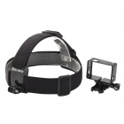 Outdoor Sports Head Fixing Band w/ Camera Frame Holder for GoPro HD Hero 3+ / Hero 3 - Black