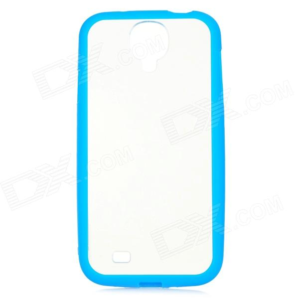 Protective Plastic Case for Samsung Galaxy S4 i9500 - Blue + Transparent protective plastic back case for samsung galaxy s4 i9500 white transparent