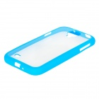Protective Plastic Case for Samsung Galaxy S4 i9500 - Blue + Transparent