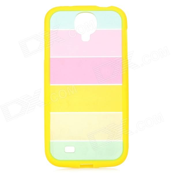 Protective Colorful Plastic Case for Samsung Galaxy S4 i9500 - Yellow