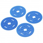 DC-130T DIY Plastic Gear Wheel por R / C Car - Azul (4 PCS)