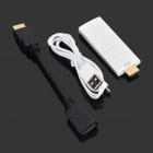 HDMI WiFi Dongle w/ HDMI Male to Female Cable + Micro USB Charging Cable - White (256M)