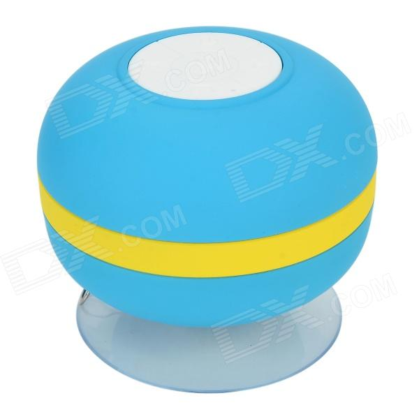 купить Lileng 305 Mini Suction Cup Wireless Bluetooth V3.0 Hands-free Speaker w/ TF Slot - Blue + Yellow недорого