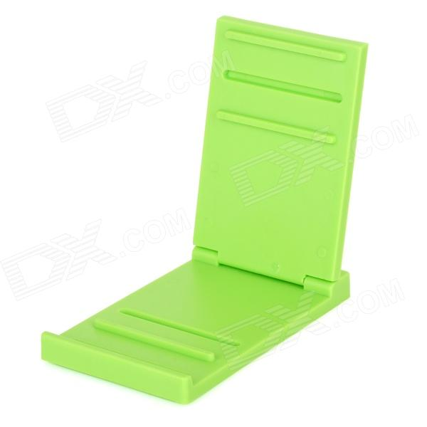 Exclusive Privat Universal Portable Foldable ABS Holder Stand for IPHONE, IPAD - Green light portable foldable abs desktop holder station for iphone 4 5 ipad 3 4 white blue