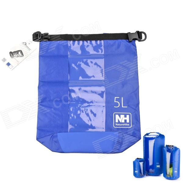 Naturehike Outdoor Waterproof Bag w/ Transparent Window - Deep Blue (5L) outdoor swimming beach drifting waterproof bag blue 1 5l