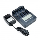 BT-C3100 US Plug 4-Slot Li-ion / Ni-MH / NiCd Battery Charger for 18650 / AA / AAA + More - Black