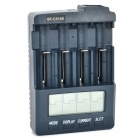 BT-C3100 V2.1 EU Plug 4-Slot Li-ion / Ni-MH / NiCd Battery Charger for 18650/AA/AAA + More - Black