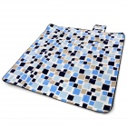 Naturehike NH60C061-G Outdoor Moisture-proof Picnic Blanket Camping Mat - Blue + Black (200 x 200cm)