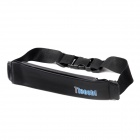 Tteoobl P-606C Handy Zippered Running / Training / Fitness Waterproof Waist Pack Bag Case - Black