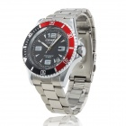 GJIABA 7194 Men's Stainless Steel Automatic Mechanical Analog Wrist Watch w/ Calendar - Silver
