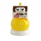 Fun Ceramic Cartoon Closestool Style Ashtray w/ Water Flush - Yellow + White