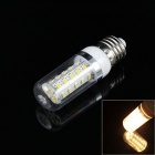 E27 5W 380lm 3000K 36-5730 SMD LED Warm White Corn Bulb w/ Cover - Transparent + Silver (AC 220V)