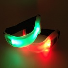 IDOMAX High Visibility Flashing LED Safety Armband for Cycling / Jogging / Walking - Red + Black