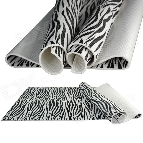 YW3A25414LJ 7mm Printed PVC Yoga Mat - Black + White