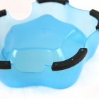 Star Style Plastic Food Bowl for Pet Dog / Cat - Light Blue + Black (200ml)