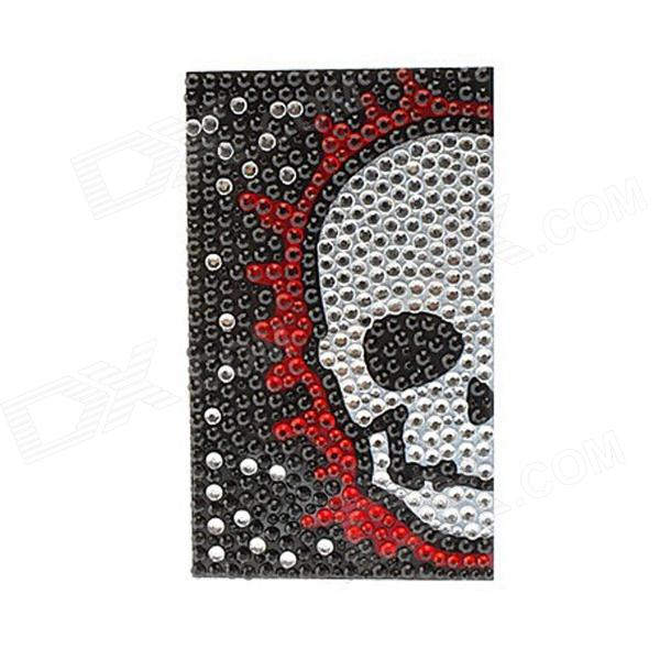 Skull Pattern Universal Mobile Phone Protective Back Protector Sticker - Black + Red + Multi-Colored universal nylon cell phone holster blue black size l