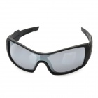 Fashionable UV400 Protective Resin Lens Sunglasses Goggles - Black