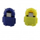 HF-Android Micro USB Male to USB 2.0 Female OTG Adapters - Yellow + Blue(2 PCS)