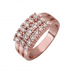 R594 Stylish Rhinestone Inlaid Tin Alloy Ring for Women - Bronze