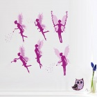 Angels Style PVC Wall Sticker - Multicolored