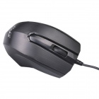 PS / 2 Wired Gaming 107-Key Keyboard + USB Wired Mouse Set - Negro + Naranja