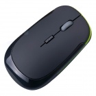 2.4GHz Wireless Optical Mouse w / USB 2.0 del receptor para PC portátil - Negro + verde (2 x AAA)