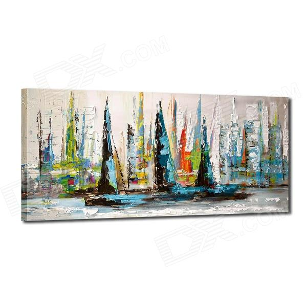 Iarts DX0613-11 Hand Painted Landscape Sailing Boats Oil Painting - Multicolored high quality bare bulb cs 5jj1k 001 for benq mp620 mp720 mt700 projectors with japan phoenix original lamp burner
