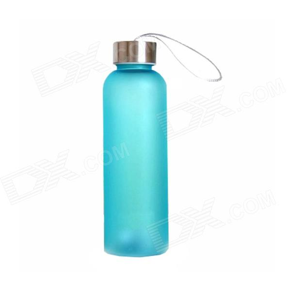 G008 Drop-proof Water Bottle w/ Strap - Blue (500ml)