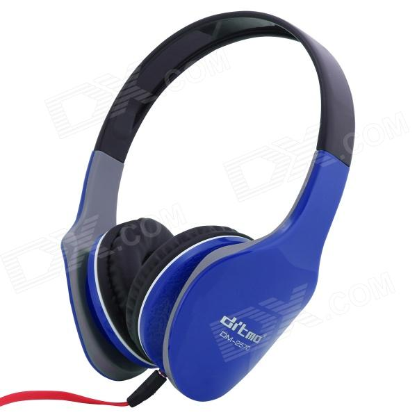 Ditmo Adjustable Headband 3.5mm Stereo Headphone - Dark Blue - DXHeadband Headphones<br>Color Deep Blue Brand Ditmo Model DM-2570 Quantity 1 Piece Material ABS Shade Of Color Blue Interface 3.5mm Wireless or Wired Wired Powered By OthersPower Free Headphone Frequency Response 20~20000Hz Impedance 32±15% ohm Microphone Frequency Response No Sensitivity 94dB S.P.Lat 1KHz Sound Card No Other Features 1) Note: This headphone does not have volume control button 2) Standard 3.5 mm plug pin fits for different kinds of multimedia device such as IPOD mp3 mp4 PSP mobile phone and personal computer 3) One sided design of the earphone line makes you wear and remove the headphone easily 4) Wide head beam and lightweight design makes you feel more comfortable when you use the headphone Packing List 1 x Headphone 1 x Audio Cable (1.2m)<br>