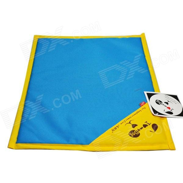 AMY K585 Pet Heat Cooling Pad for Dog / Cat - Blue + Yellow (Size L)