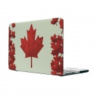 "Hat-prince Maple Leaf Pattern Full Body Matte Case for MacBook Pro 13.3"" w/ Retina Display - Red"