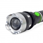 R31 LED 600lm 5-Mode White Light Rotary Zooming Flashlight - Black (1 x 18650/3 x AAA)