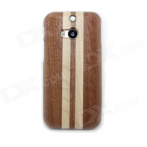 Detachable Protective Wood Back Case for HTC M8 - Wood