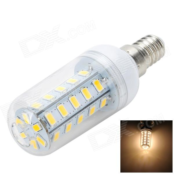 Marsing L17 E14 6W 600lm 3500K 36-SMD 5730 LED Warm White Corn Lamp - Branco + Amarelo (AC 220 ~ 240V)