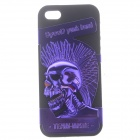 Novelty Punk Style Protective Plastic + Silicone Back Case for IPHONE 5 / 5S - Purple