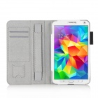 HighPro Protective PU Leather Case with Handle Strap for Samsung Galaxy Tab S 8.4 - White