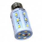 ZHISHUNJIA E27 9W 580lm 3000K 24-SMD 5630 LED Warm White Light Corn Lamp - White (AC 85~265V)